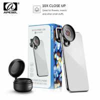 APEXEL HD 10X Süper Makro Lens Telefonu Kamera Mobil Makro Lens iPhone x xs max Samsung s9 s10 Xiaomi redmi tüm akıllı telefonlar