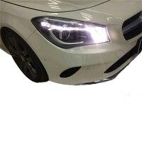 Аксессуар дневной бег лампа Стайлинг assessoiсветодио дный res LED Automovil УДАРА Фары для автомобиля сзади огни сборки Mercedes Benz Cla
