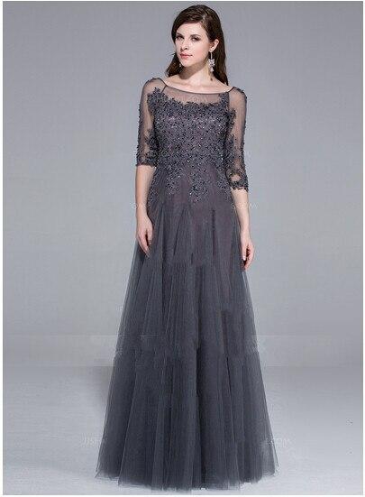 Aliexpress.com : Buy 2015 Modest ee through neck women plus size ...