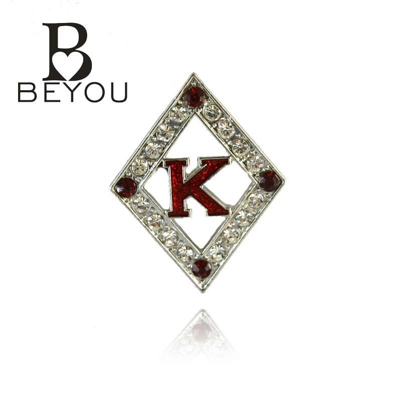 ec13b698734a Envío libre más nuevo Kappa Alpha PSI fraternidad cristal broche joyería  Brother joyería 5 unids 1 lote