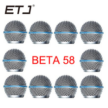 Freeshipping 10 pçs/lote Substituição Profissional Bola Cabeça Malha Microfone Grille Serve Para beta 58 beta58a shure sm 58 sm 58sk