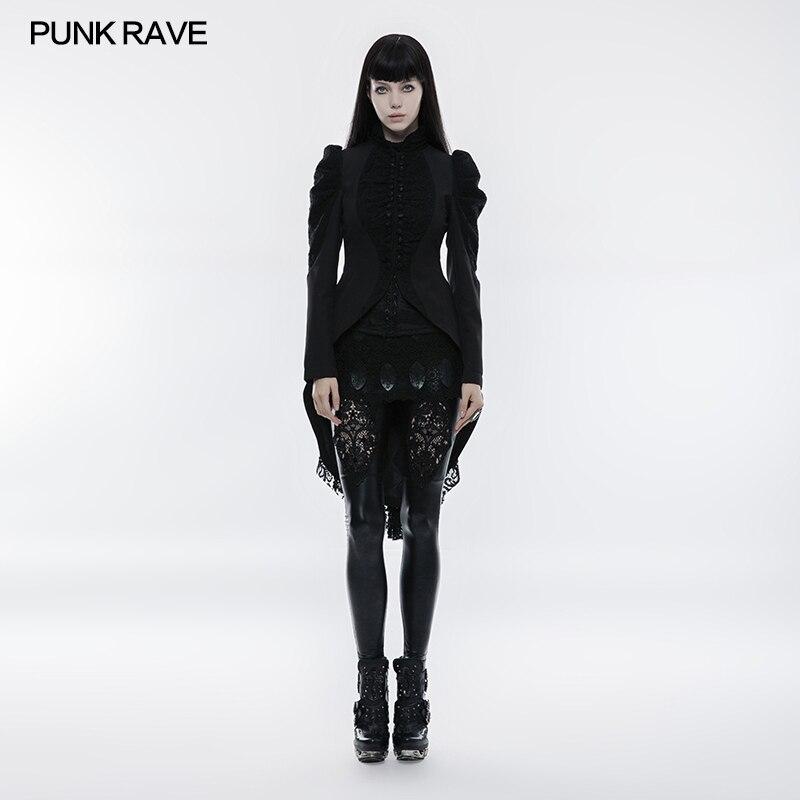 Punk Rave Fashion Victorian Vintage Kera Lace Buttons Long Coat Jacket Arwen WY831 Brand Quality
