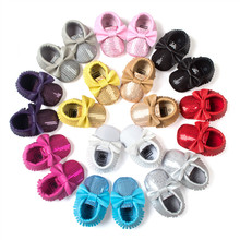 ROMIRUS Wholesale New Baby Moccasin Fashion Bling Bow Soft B