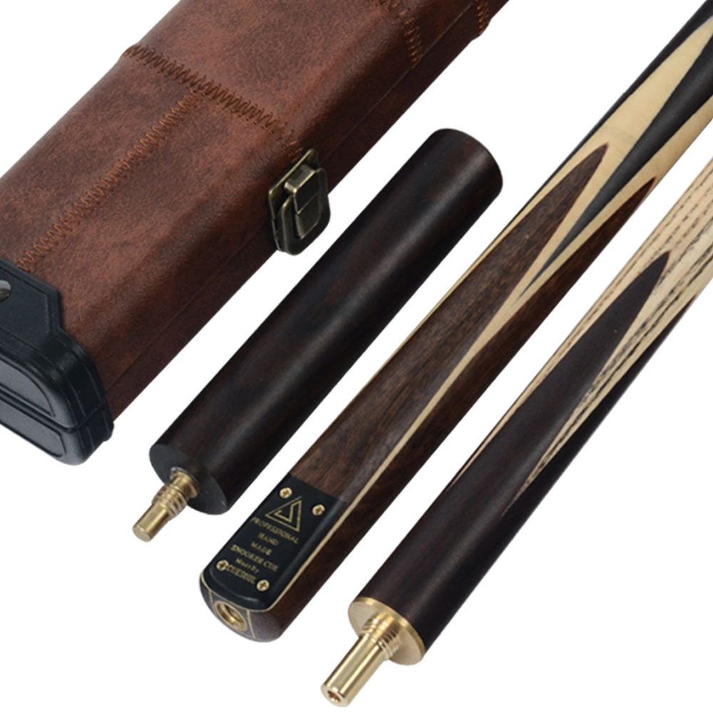 CUESOUL Handmade Free Shipping 58Inch 3/4 Piece Snooker Cue + Extension&Cue Case
