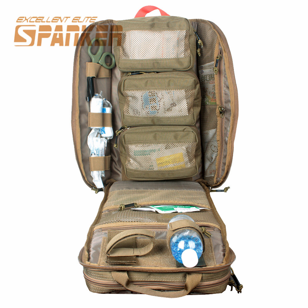 Spanker MOLLE Military Backpack Durable EMT Backpack Gun Airsoft Paintball Assault Combat Rucksack Camo Outdoor Hunting Bags military usmc backpack hunting rifle molle bag assault molle bug out rucksack hunting army combat travel bag