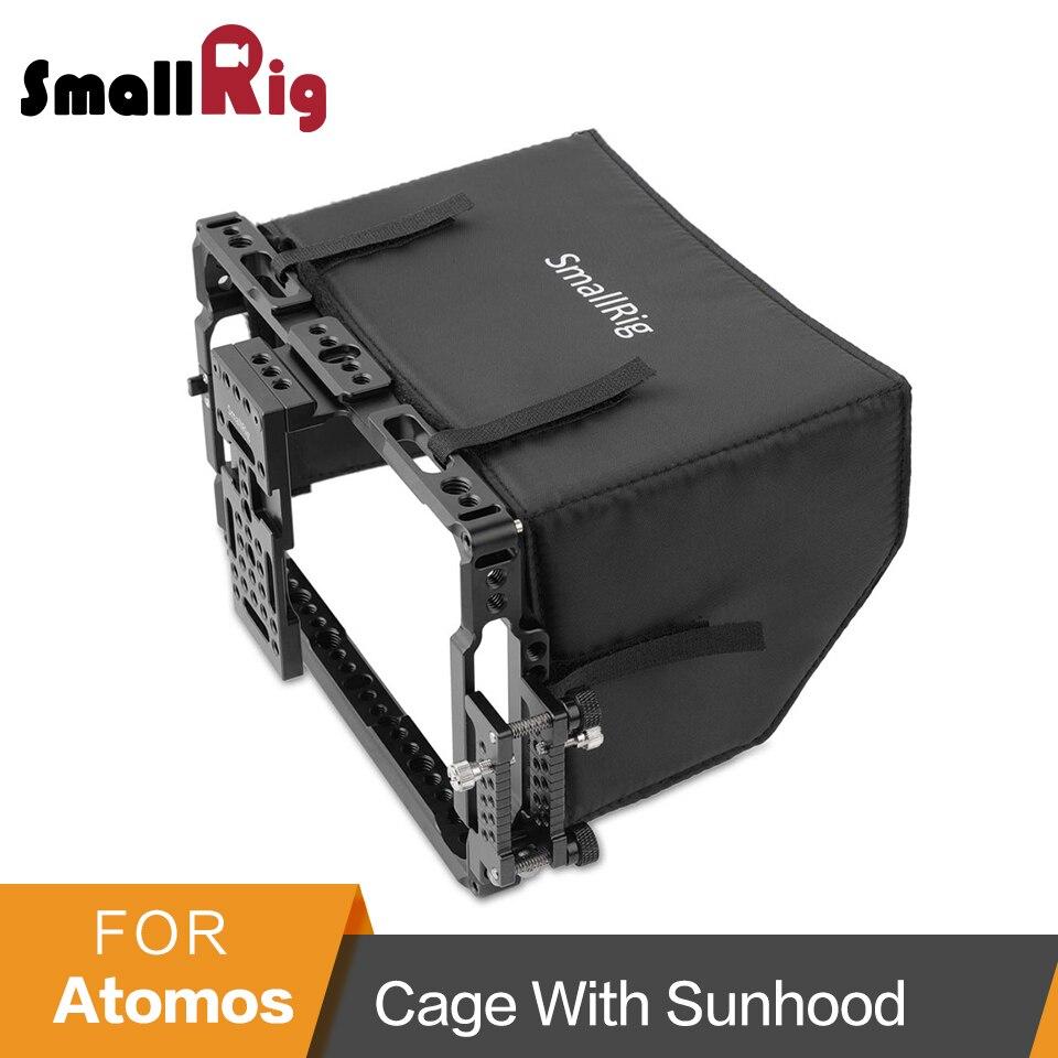 """Jaula de Monitor pequeño con parasol para ATOMOS Shogun Inferno/Ninja Inferno/Shogun llama/llama Ninja monitores de 7 """" 2008-in caja para la cámara from Productos electrónicos    1"""