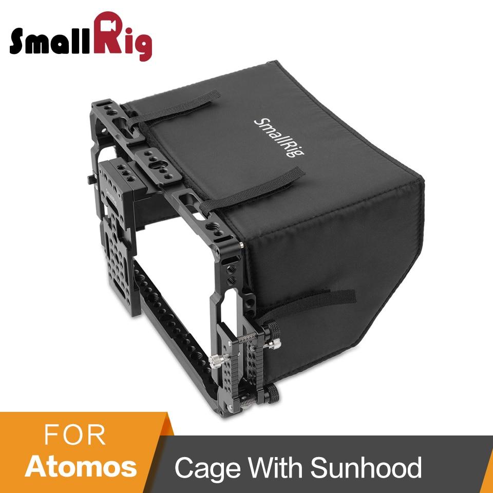SmallRig Monitor Gabbia con Sun Hood Ombra per ATOMOS Shogun Inferno/Ninja Inferno/Shogun Fiamma/Ninja Fiamma 7