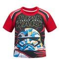 Звездные войны Дети Дети мальчики красный с коротким рукавом детей Футболки лето мультфильм футболка
