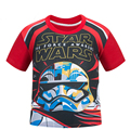 Star Wars Kids children boys red short sleeve cotton children T-shirt summer cartoon T shirt