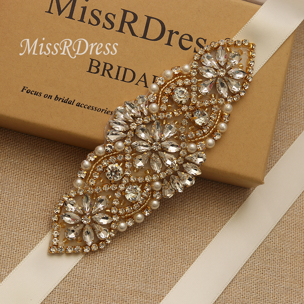 439C Bride Wedding Bridesmaid Dress Handmade Rhinestone Girdle Decoration Belts