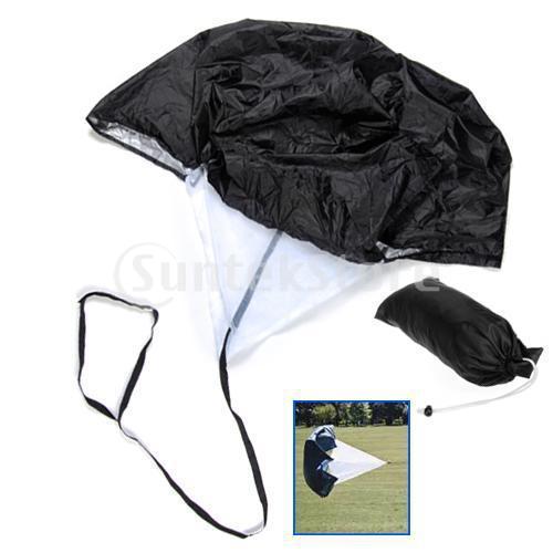 Free Shipping 40 Inch Speed Training Parachute Running Chute - Black