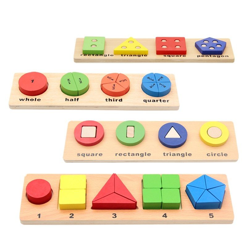 Digital Puzzle Baby Learning Wood Toy Kid Shape Color