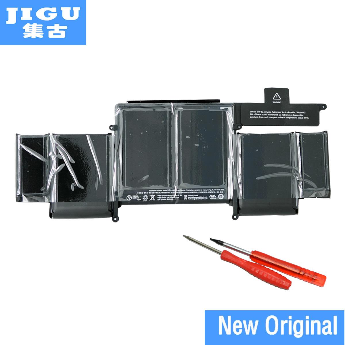 JIGU A1493 Batterie D'ordinateur Portable D'origine Pour APPLE Macbook Pro Retina 13 A1502 2013 ME864 ME865 11.34 v 71.8WH