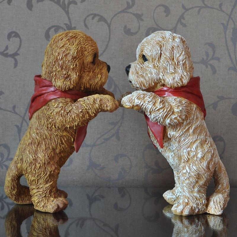 Grand animal ornements Ameublement bijoux artisanat résine décoration stand mignon chien