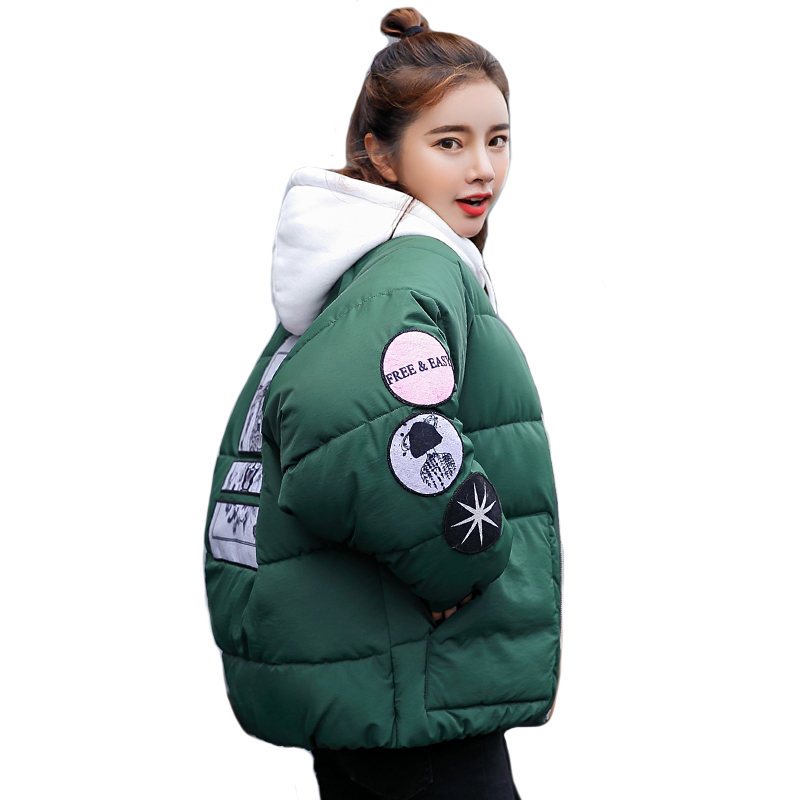 2019 New Arrival Winter Jacket Women Oversize Fashion Female Womens Coat Short   Parka   Warm Casaco Feminino Inverno Outwear