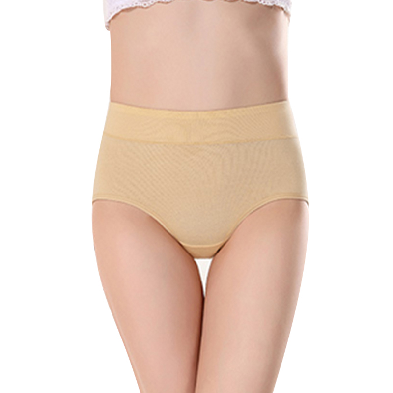 Women's briefs Comfortable and cool bamboo fiber   panties   pure color classic high waist girl Fashion underpants Dropshipping