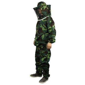 Unisex Universal Army Military Camouflage Tops Pants Sets Beekeeping Veil Suit Working Body Protect Clothing Security Wear