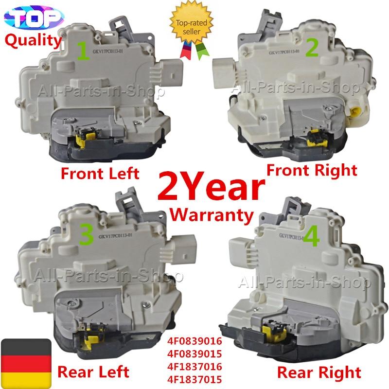 4 ACTUATOR DOOR LOCK Kit For Audi A3/S3 A4 A6/S6 A8/S8 RS3 RS6 SEAT EXEO 4F0839016 4F0839015 4F1837016 4F1837015