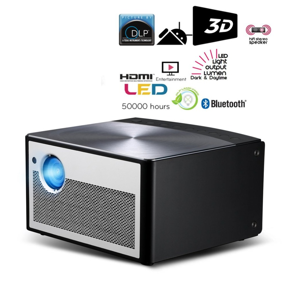 "720 P Projector Dlp 900 Ansi Lumen 3 + 16 Gb Led 300 ""voor Android/os Stereo Wifi Bluetooth Tv Screenless Meeslepende Home Theater"