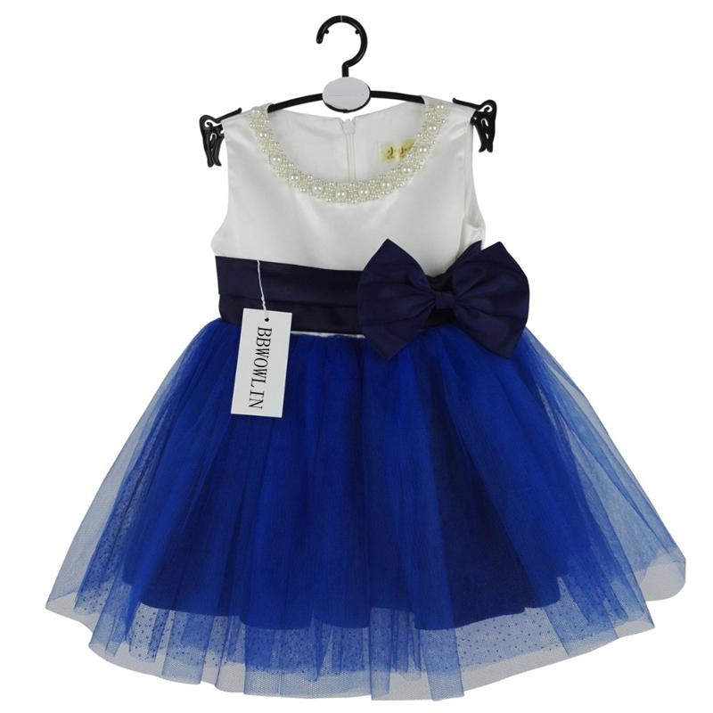 BBWOWLIN Blue Baby Girls Dress Roupas Infantis Menina for 0-2 Years Children Clothing Bosudhsou  8060 jurassic world dinosaurs boys short sleeved t shirt top children roupas infantis menina 10 anos