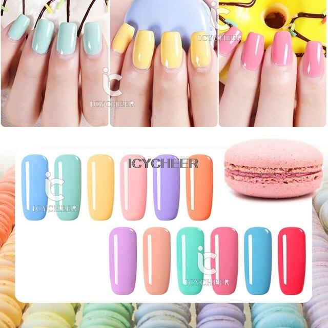 Icycheer Candy Color Nail Art Polish Led Uv Gel Vanish Soak Off Nail