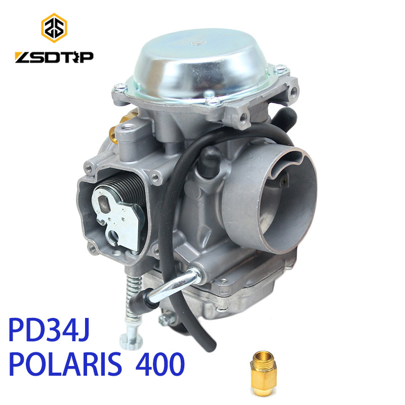 ZSDTRP PD34J 34mm Vide Carburateur pour POLARIS 400 1995-2010 universel d'autres 400cc à 600cc racing moteur UTV ATV