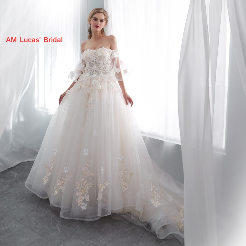 Disney Wedding Dresses 2019: Long A Line Wedding Dresses 2019 New Lace Up In Stock Robe