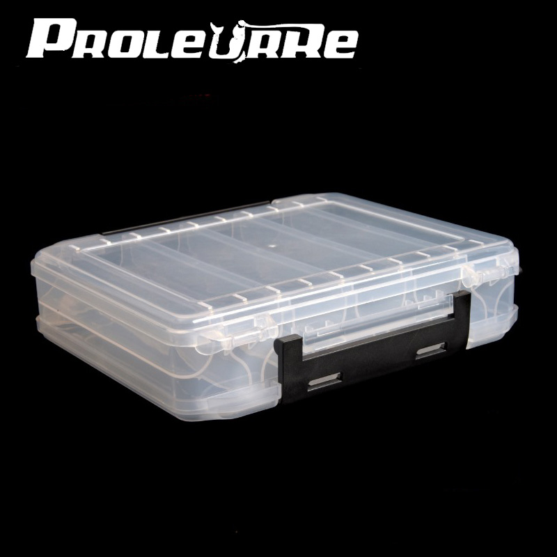NEW Double Sided 12 Compartments Fishing Tackle Tools Box Lure Fishhooks Float Sinker Line Fishing Accessories Box 210x170x43mm