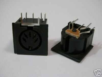PCB Panel de montaje MIDI mujer DIN5 DIN 5-Pin Jack 1x