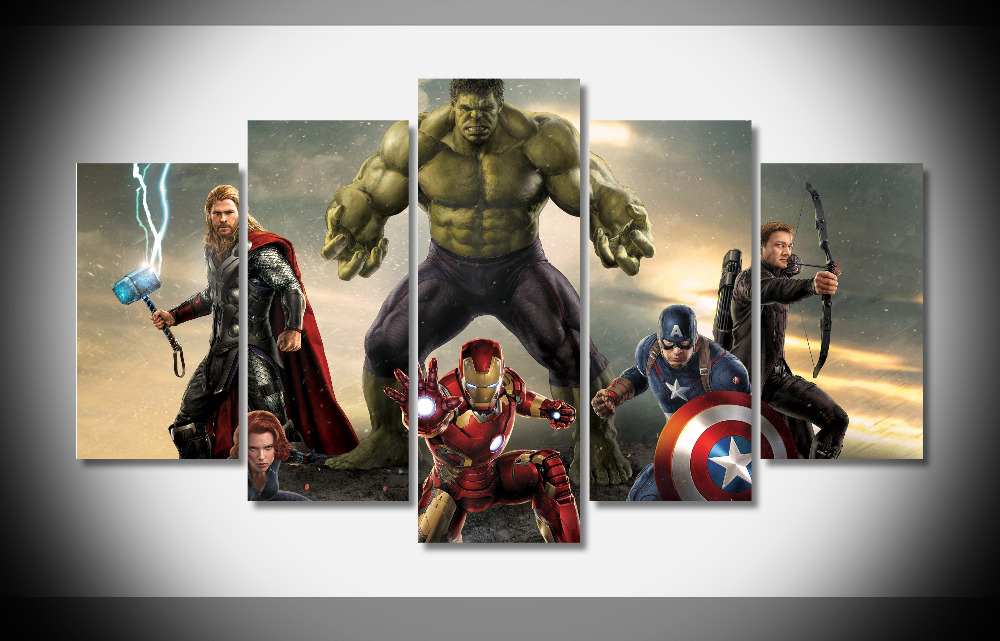 6546 4K Avengers Movie PosterFramed Gallery wrap art print home wall decor wall picture Already to hang digital print wholesale