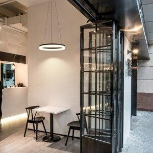 Image 3 - Современные светодиодные подвесные светильники белого/черного цвета для столовой, гостиной, Подвесная лампа