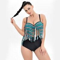 Costumi Da Bagno donna Bikini Costume Da Bagno Vestito Femminile Plus Size Costumi Da Bagno Delle Donne Large Size Vintage Vita Alta Costume Da Bagno Swim Dress F1954