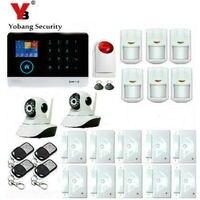 Yobang безопасности Беспроводная Аварийная сигнализация wifi gsm 433 МГц домашняя охранная сигнализация сенсорная клавиатура
