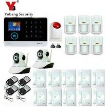 Yobang Security Wireless wifi GSM Alarm System 433MHz Home Burglar Security Alarm System Touch Keyboard