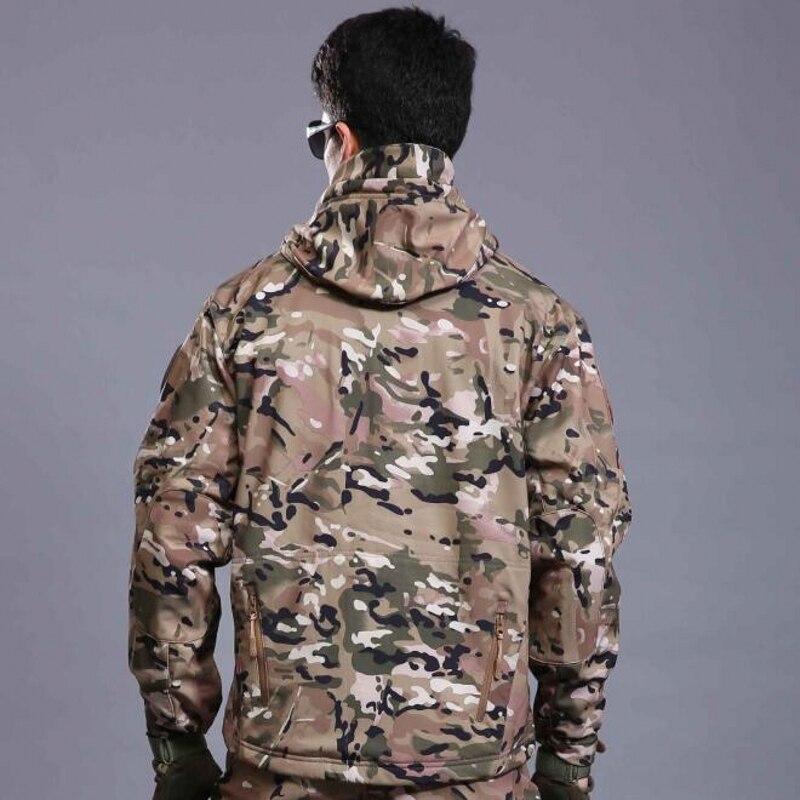 Высокое качество скрытень акула мягкой оболочки кожи чуть v 4.0 тактическая военная куртка водонепроницаемый ветрозащитный армия одежда