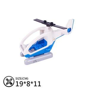 Image 3 - ミニ車バスヘリコプター漫画飛行機ビッグサイズビルディングブロックオリジナル車両アクセサリー diy のおもちゃ互換デュプロレンガセット
