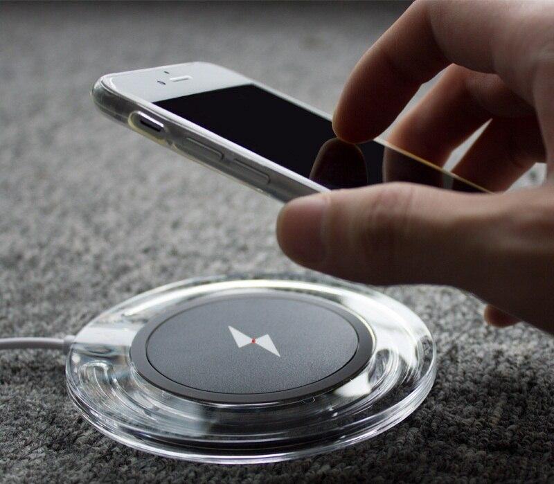 Zweite generation qi wireless-ladegerät pad + empfänger für samsung galaxy s7 s6 s5 note7 lade kit für iphone 5 s 6 s 7 plus