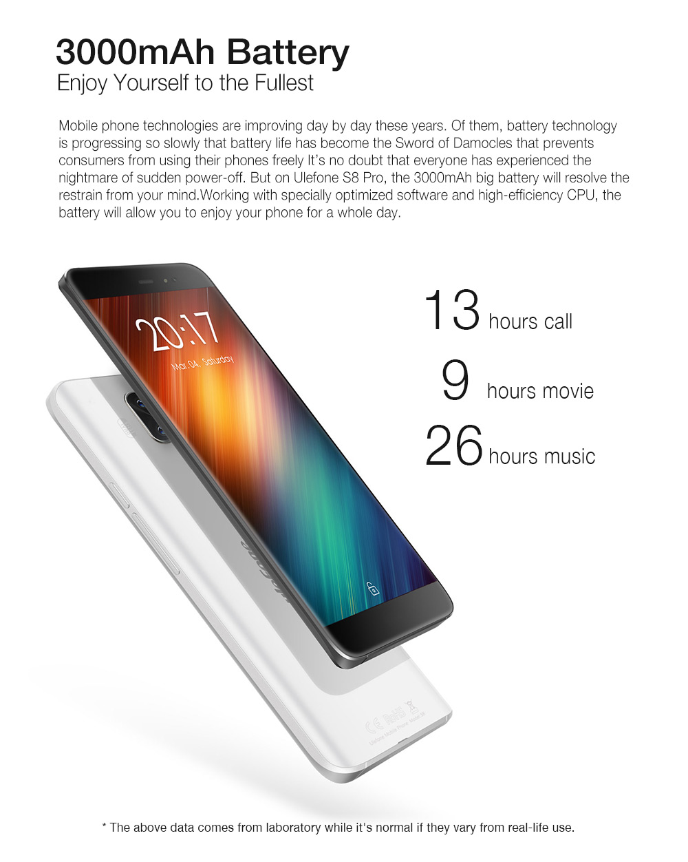 Ulefone S8 Pro Smartphone Dual Cameras Mobile Phone 5.3 inch HD MTK6737 Quad Core Android 7.0 2GB+16GB Fingerprint ID Cellphone - 5