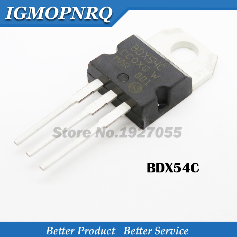 10PCS BDX54C TO-220 BIPOLAR TRANSISTOR PNP 100V 8A