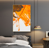 Abstract contemporary wall art on Canvas thick oil layers modern home decor artwork painting yellow wall painting living room