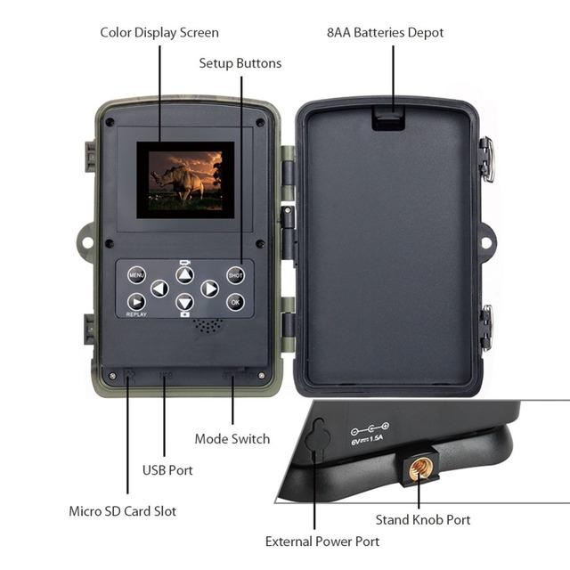 Suntekcam HC-801M 2G Hunting Camera 16MP Trail Camera SMS/MMS/SMTP IP65 Photo Traps 0.3s Trigger Time Camera Trap Wild Cameras