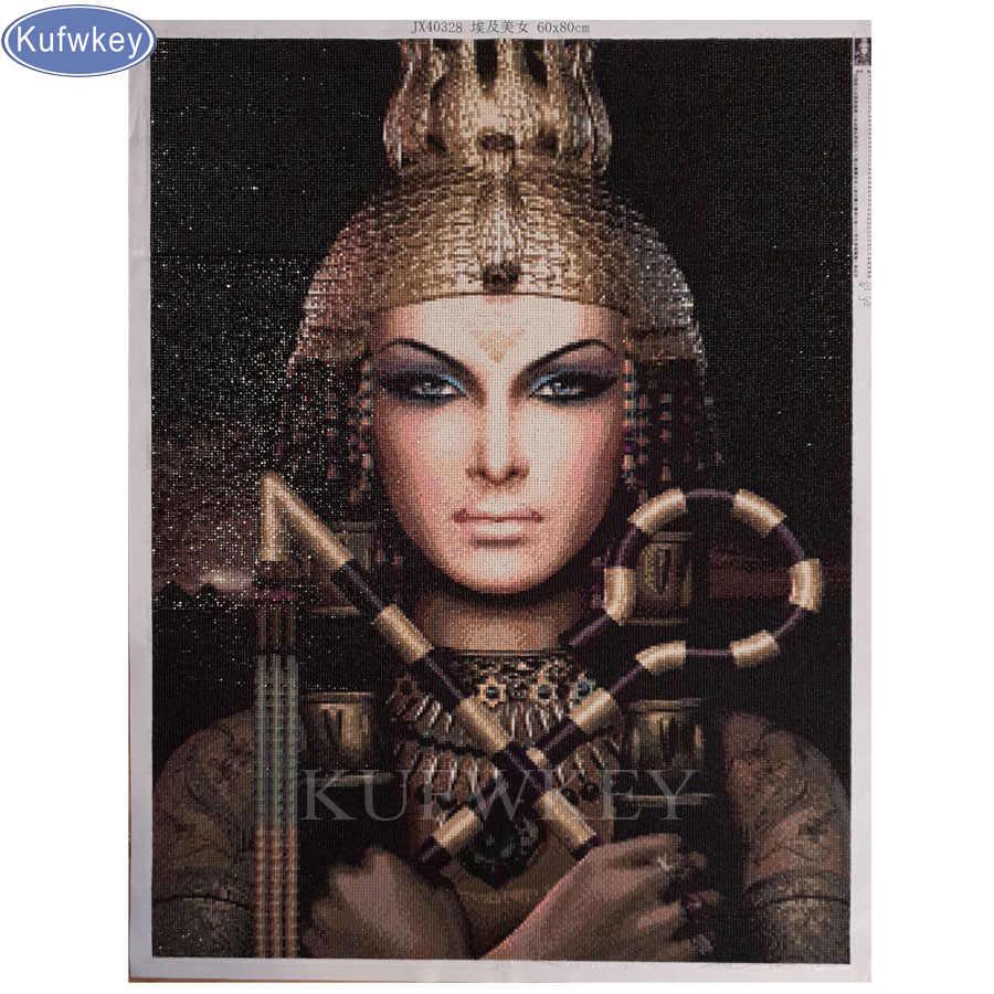 Сделай Сам, алмазная вышивка, Нефертити, 5D, египетская алмазная живопись, вышивка крестиком, наборы, 3D, Алмазная мозаика, украшение дома, рождественский подарок
