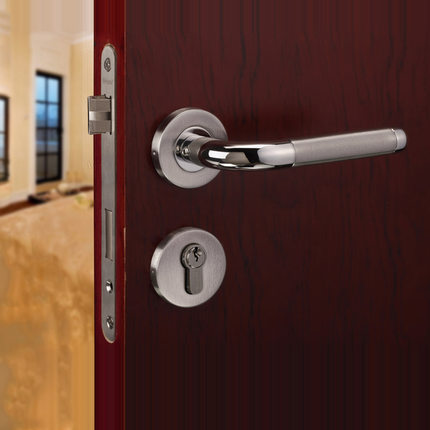 Germany 304 three piece stainless steel interior door - Door handles with locks for bedrooms ...