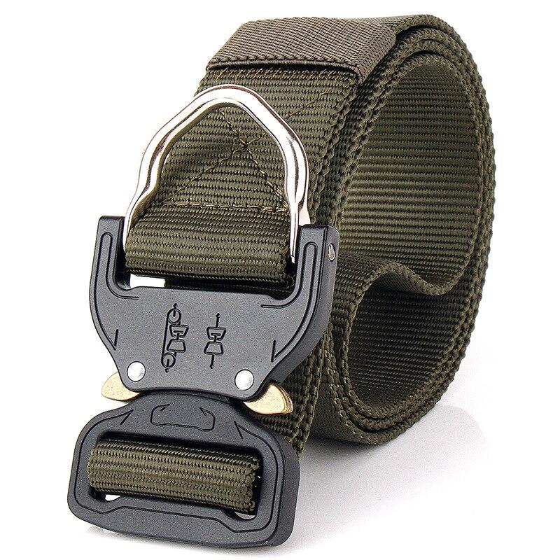 где купить Military Equipment Knock Off Army Belt Men's Heavy Duty US Soldier Combat Tactical Belts Sturdy Nylon Waistband Belt Metal Hook по лучшей цене
