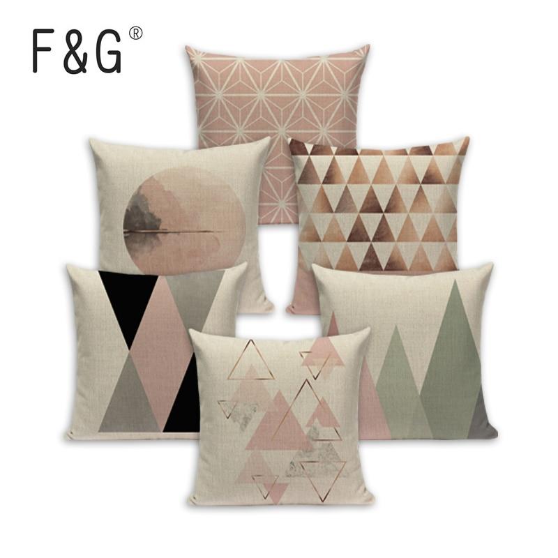 Case Geometric Pillow Cushions For Sofa