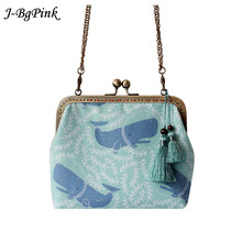 2019 New Original Branded Canvas Printed Women's Cross Body Bags and Shoulder Bags Handmade Whale Jinkou Art package
