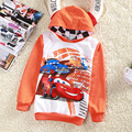 2017 new autumn winter long-sleeved sweater boys and girls recreational sports hooded sweater orange cartoon car style hoodies