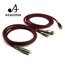 ATAUDIO 1 пара Canare аудиокабель Hifi RCA Hifi Professional усилители домашние RCA провода утолщенной стены разъем 1 м 2 м 3 м