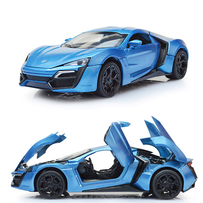 Alloy Lykan Hypersport Metal Models Sports Car Pull Back Collection Brinquedos Kids Toys For Children Boys Gift Diecasts & Toy