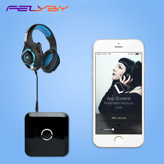 FELYBY Wireless Bluetooth Receiver 3.5MM Port Stereo Audio Music Adapter